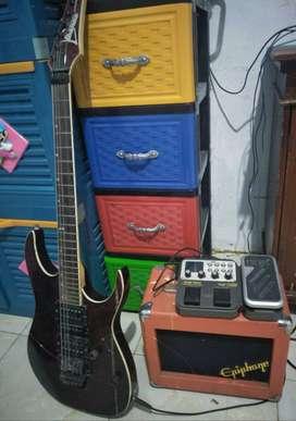 Fullsett aja bos gitar, amply, efx nux