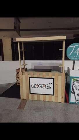 Booth stand portable Kayu