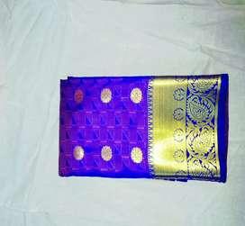 Silk border saree