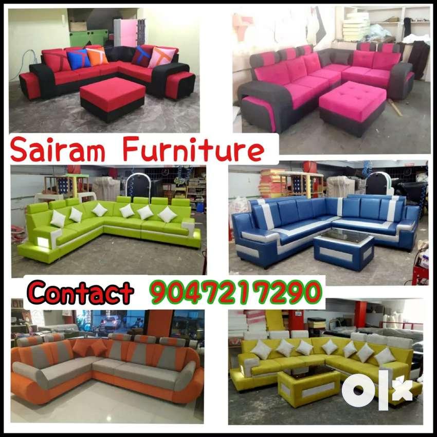 Sairam Furniture Factory outlet luxury Corner sofa set 0