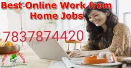 Life time work extra earning...part time job