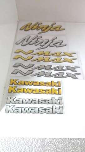 Stiker Timbul Emblem Honda Yamaha Ninja Kawasaki hanya 15k per model