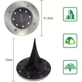 TaffLED Lampu Tanam LED Putih Solar Outdoor 8 LED Waterproof CL022