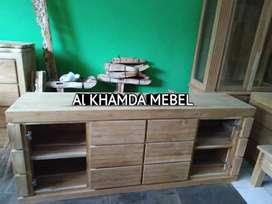 Ready Buvet Tv Minimalis Bahan Kayu Jati Monggo @392