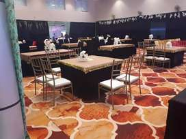 Vip chairs for tent house nd tables 4×4