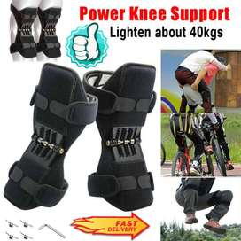 2 Pcs Power Knee Joint Support Pads Rebound Spring Force