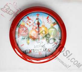 Souvenir Lucu dan Menarik Jam Natal - Jam dinding Natal