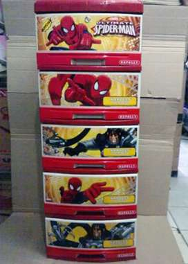 Container Plastik Susun 5 Spiderman Napolly