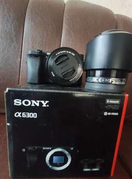 SONY A6300  + LENSA KIT + LENSA FIX 1.8/50