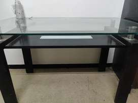 Dinning table+ chairs, shoe rack, centre table(teapoy), gas shegdi