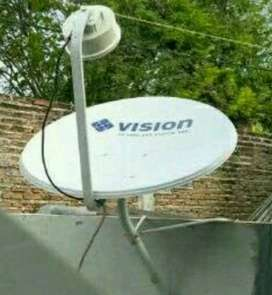 Indovision Mnc Vision Family Pack tv terbaik jernih tahan hujan