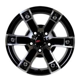 Pelek Mobil HSR JT61 Ring 15x65 Black Machine Face 2