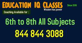 Tution All Subjects 6th to 8th