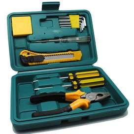 Perlengkapan Set Reparasi Obeng Cutter Kunci L Tang 12 in 1