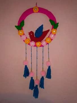 Wall Hanging Craft (Woolen)