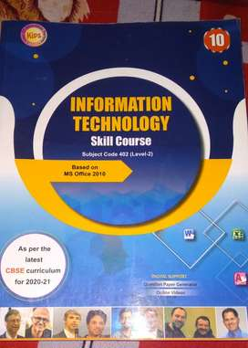 INFORMATION TECHNOLOGY subject code: 402(level ‐ 2) KIPS class10th