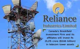 Hiring for reliance jio networking towers