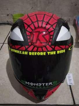 Jual helm KYT K2R limited edition Spiderman