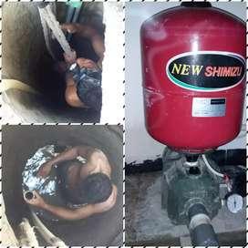 Jasa servis pompa air/sedot wc/pembuatan sumur bor
