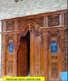 pintu gebyok ukir ukuran 3 meter jati tpk