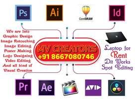 Am looking for graphic designer and video editor job