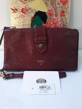 Nego FOSSIL dompet Becca maroon