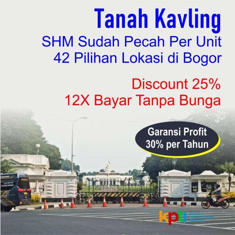 Tanah Kapling Luas 137-an m2 Area Bogor Barat Bisa Dicicil 12X