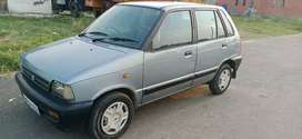 Sale urgent maruti 800 A.C 5 speed 2002 Pass Up to 2022 paper complete