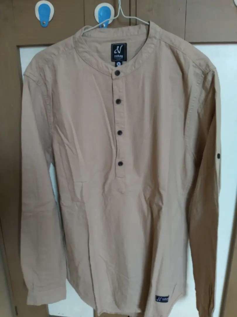 Baju koko Merk Nakay, warna Coklat susu