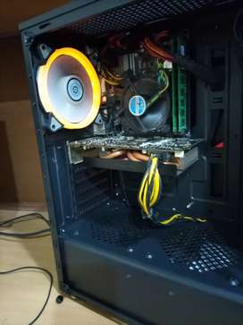 Gaming PC I5 4th gen and Rx 580 4GB 16 GB ram  gaming x casing