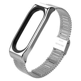 Mijobs Milanese Strap Watchband Stainless Steel for Xiaomi Mi Band 3/4