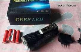 Senter Police  senter LED T6 4 batre sinar putih