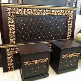 Double bed dressing table side table