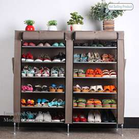 12 Layer Shoe Rack Double Portable Keep calm & surround yourself with