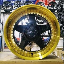 Velg Corolla , Soluna ring 17 lebar 8,5/9,5 tipe VS HSR black gold