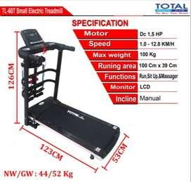 Grosir Treadmill Elektrik Termurah TL-607 Multifungsi Free Ongkirr