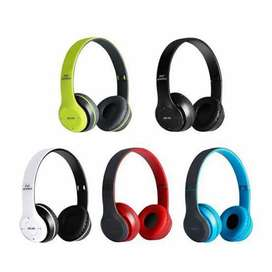 Bluetooth Over Ear Foldable Headset with Microphone Stereo Earphone