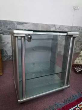A glass trolley in excellent condition.