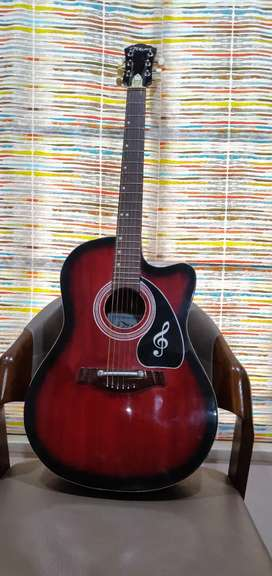 Wooden takamin acoustic guitar