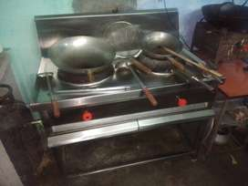 Commercial 2 bouble burnals stove