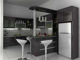 Kitchen set, bedroom, bedrop tv, lomari set, furniture customs ahu77qj