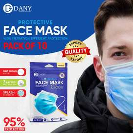 DANY Surgical Face Masks (Imported) Pack of 10