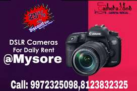 Canon EOS DSLR camera with Full kit