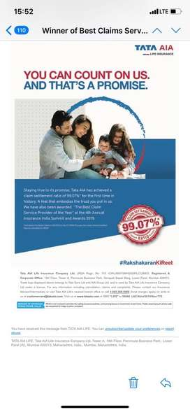 Golden oppurtunity to work with Tata Aia life insurance