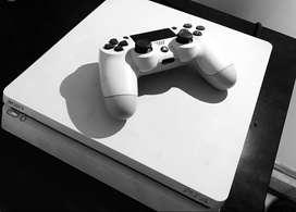 PS4 Slim White 500GB + 1 Controller (2019)