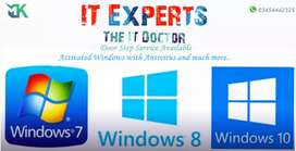 Laptop Window Installation, softwares & Drivers by Professional