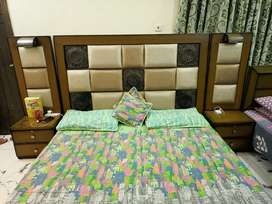 New double bed .Good condition.double bed with 2 draw and 1 long draw.