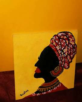 PAINTING ON CANVAS BOARD