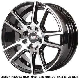 all new DABUN H10963 HSR R14X6 H8X100-114,3 ET25 BMF
