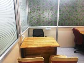 Furnish Office Space with MD table & workstation 5seater near metro st